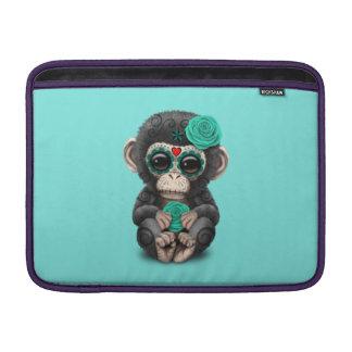 Jour bleu du chimpanzé mort poches macbook air