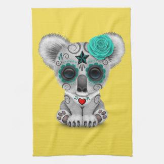 Jour bleu du koala mort de bébé serviettes éponge
