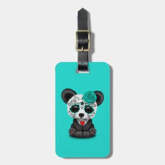 Jour bleu du panda mort CUB Étiquette À Bagage