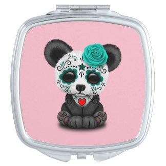 Jour bleu du panda mort CUB Miroirs À Maquillage
