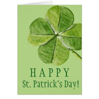 Jour chanceux vert de Patrick de saint de trèfle Carte De Vœux