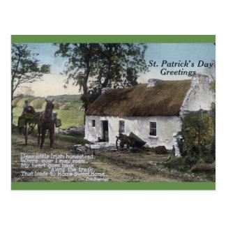 Jour couvert de chaume irlandais vintage de St Carte Postale