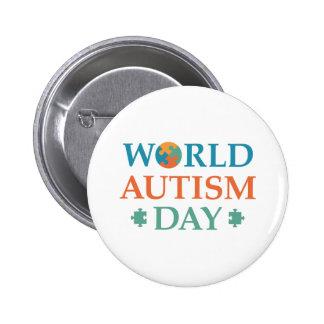 Jour d'autisme du monde badges