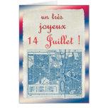 Jour de bastille heureux carte de vœux