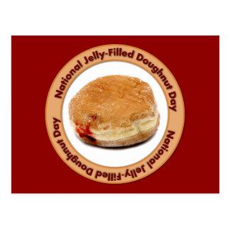 Jour de beignet Gelée-Rempli par ressortissant Carte Postale