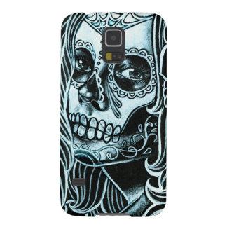 Jour de Bella Morte de la fille morte de crâne de  Coques Galaxy S5