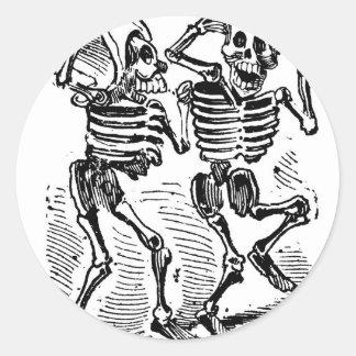 """Jour """"de Calaveras heureux"""" Mexique des morts Adhésifs Ronds"""