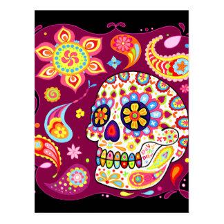 Jour de crâne de sucre de la carte postale morte