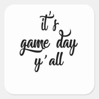 jour de jeu sticker carré