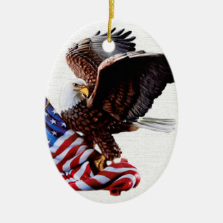 Jour de la Déclaration d'Indépendance Etats-Unis Ornement Ovale En Céramique