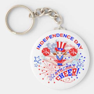 Jour de la Déclaration d'Indépendance, le 4 Porte-clé Rond