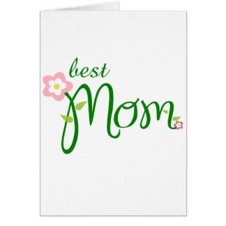Jour de la fête des mères - best mom carte de vœux