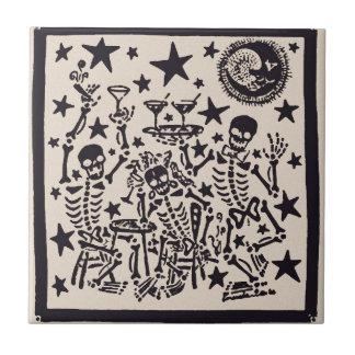 Jour de la fiesta morte de diamètre Muertos de Petit Carreau Carré