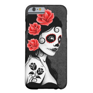 Jour de la fille morte de crâne de sucre - gris coque iPhone 6 barely there