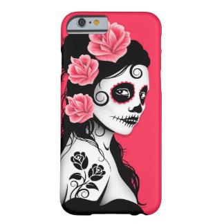 Jour de la fille morte de crâne de sucre - rose coque iPhone 6 barely there