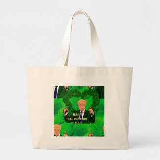 Jour de la Saint Patrick Donald Trump Grand Tote Bag