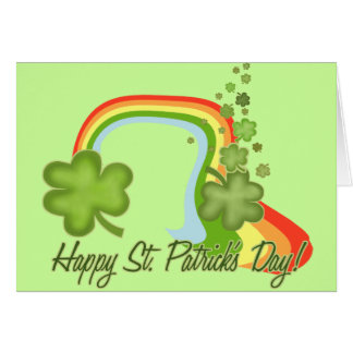 Jour de la Saint Patrick heureux Carte De Vœux