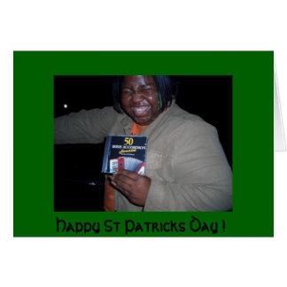 Jour de la Saint Patrick heureux - carte drôle