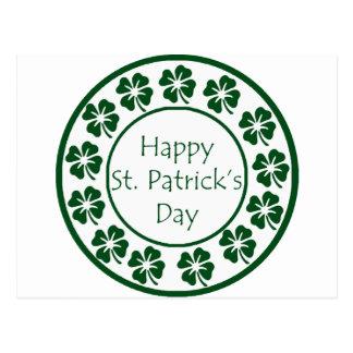 Jour de la Saint Patrick heureux Carte Postale