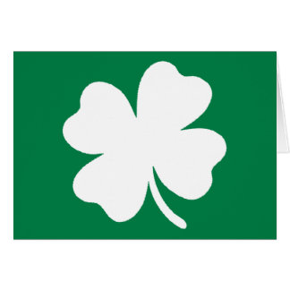 Jour de la Saint Patrick Irlande de shamrock Carte De Vœux