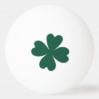 Jour de la Saint Patrick vert de shamrock Balle Tennis De Table