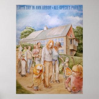 jour de la terre à Ann Arbor (affiche) Poster
