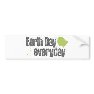 Jour de la terre chaque jour ! autocollants pour voiture