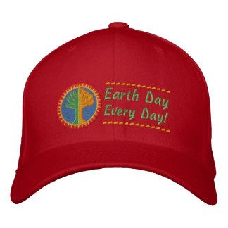 Jour de la terre chaque jour casquettes de baseball brodées