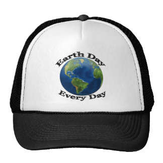 Jour de la terre chaque jour casquette trucker