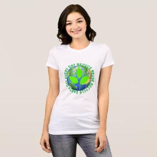 Jour de la terre, chaque jour RÉDUISENT la T-shirt