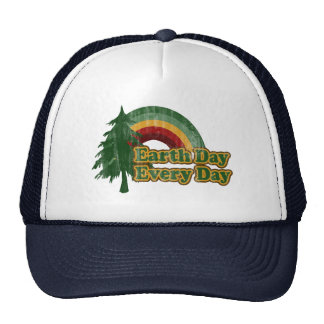 Jour de la terre chaque jour, rétro arc-en-ciel casquette trucker