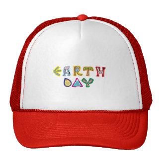 Jour de la terre coloré frais casquettes