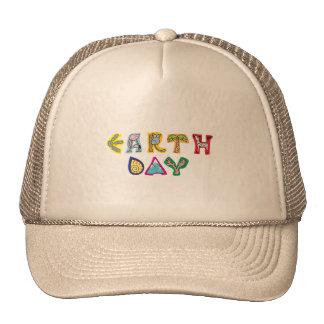 Jour de la terre coloré frais casquette trucker
