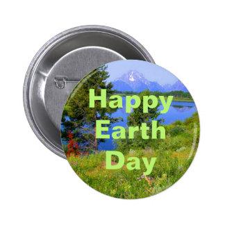 Jour de la terre heureux badge