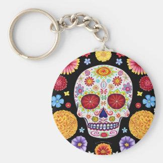 Jour de l'art mort de crâne de sucre de Keychain Porte-clés