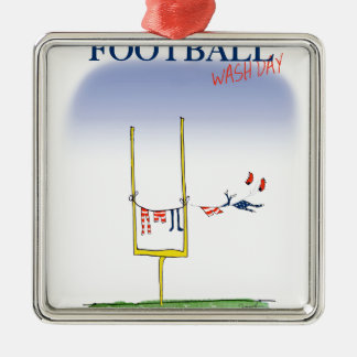 Jour de lavage du football, fernandes élégants ornement carré argenté