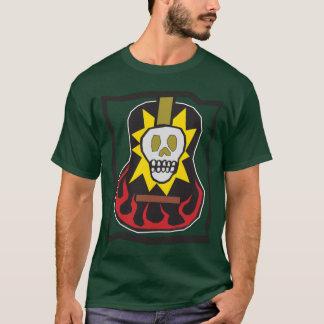 Jour de l'avant et du dos morts de guitare de Flam T-shirt