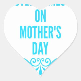 jour de mères de #stepmomlove sticker cœur