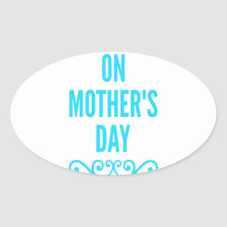 jour de mères de #stepmomlove sticker ovale