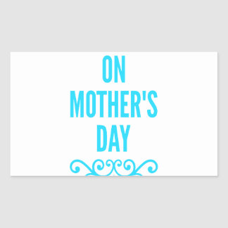 jour de mères de #stepmomlove sticker rectangulaire