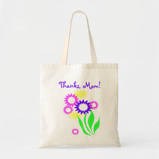 Jour de mères gai de fleurs sac en toile budget