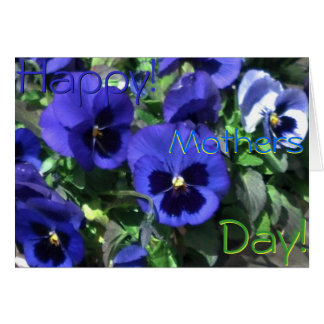 Jour de mères heureux ! Carte bleue de 2013