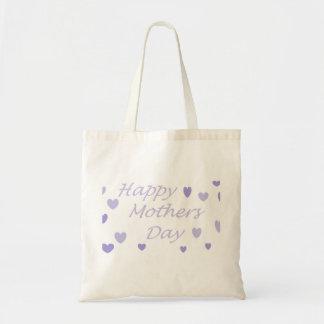 Jour de mères heureux de Lavendar Sac En Toile