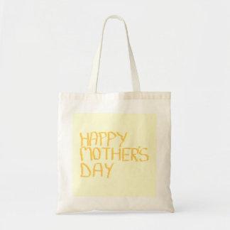 Jour de mères heureux Jaune Sac En Toile