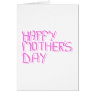Jour de mères heureux.  Lettres roses Cartes De Vœux