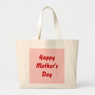 Jour de mères heureux Rouge et rose Coutume Sacs