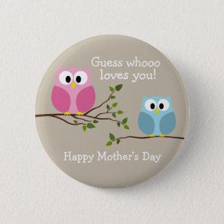 Jour de mères - hiboux mignons - Whooo vous aime Pin's