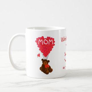 Jour de mères personnalisé d'ours de nounours mug blanc