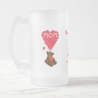 Jour de mères personnalisé d'ours de nounours tasse à café