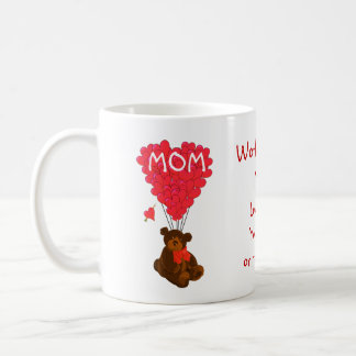 Jour de mères personnalisé d'ours de nounours mug
